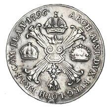 AUSTRIAN NETHERLANDS Franz II Kronenthaler 1796 B type 2 Kremnitz KM#62.2 Thaler
