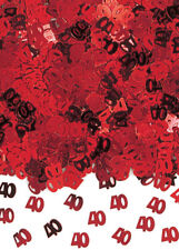 Red 40th Anniversary Ruby Wedding Table Confetti