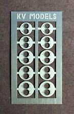 TWIN-BEAM HEADLIGHT CONVERSION PLATES E-F UNITS #2 HO SCALE KV MODELS KV-1004H