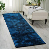 Hall Runners Dark Blue Super Soft Thick Modern Carpet Runner 80x300cm
