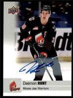 2019-20 UD CHL Autographs Parallel Auto #4 Daemon Hunt - Moose Jaw Warriors