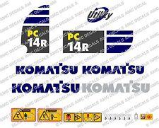 KOMATSU PC14R BAGGER-AUFKLEBER-AUFKLEBER-SATZ
