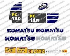KOMATSU PC14R DIGGER DECAL STICKER SET