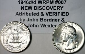1946 d/d RPM #7 ERROR CH BU Washington Quarter SUPER NICE Flashy SILVER Coin  NR