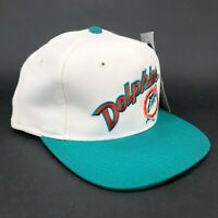 Vintage Maimi Dolphins Sports Specialties Fitted Hat The Pro Script Logo White