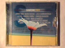CD Sanremo 2003 ANNA OXA GIUNI RUSSO ENRICO RUGGERI ALEXIA SYRIA ANDREA MIRO'