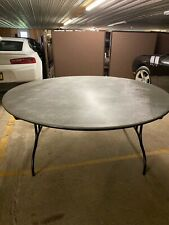 ABS Plastic Round Folding Table