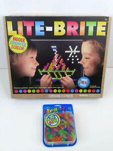 Lite-Brite Classic Toy Magic Screen 214 Pieces NEW w/Extra Pegs