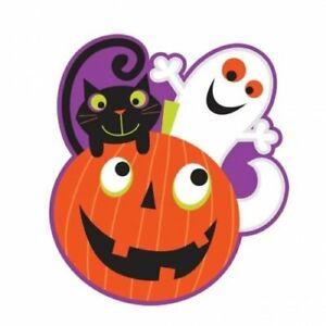 Halloween Skeleton Pumpkin Patch 38cm Cut Out Decorations x 12