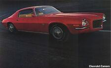 "1970 Camaro SS396 Z/28 Sales Brochure (POSTER) 11""x18"""