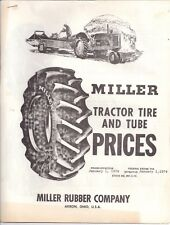 1974 Miller Rubber Company Akron Ohio Tractor Tire and Tube Prices