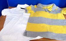 BABY GAP~Lot of 2 SHORT SLEEVE POLO SHIRTS~Gray & Yellow~White~Boys Size 4