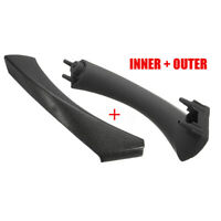 FOR BMW E90 328i Black REAR Right INNER OUTER DOOR PANEL HANDLE PULL TRIM COVER