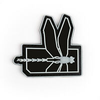 3D Dragonfly US Army Tactical Morale Badge Dark Whit PVC Hook Loop Patch Whit T2