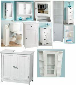 Bathroom Kitchen Cabinet Single Double Door Under Sink  Wall Mounted Cupboard