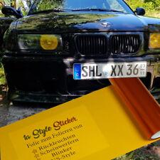 Folierung Scheinwerfer Folie Nebelscheinwerfer Orange / Gelb Lasierfolie Auto