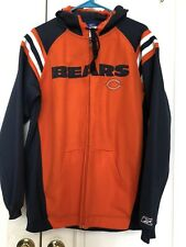 Reebok Chicago Bears Hoodie NFL Full Zip Soft Shell Jacket Size S Oversized
