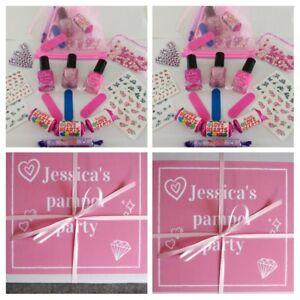 Princess Parties Girls Pamper Sleepover Birthday  Prefilled Personalised Box