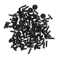 50 Piezas 7 mm agujero remaches negros plastico para sujetador puerta coche K8T6