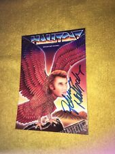 Johnny Hallyday Photo Cartonnee Rare Et Collector Dedicace Autograph
