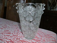 """MIKASA CRYSTAL FROSTED PANSY BOUQUET FLOWERS VASE MAYFLOWER GERMANY - 7.75"""""""