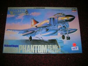 "HASEGAWA  # 2800  "" BRITISH PHANTOM FG MK.1 ROYAL NAVY  "" 1/48 KIT , LOT # 6162"