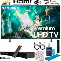 "Samsung UN65RU8000 65"" RU8000 LED Smart 4K UHD TV (2019) w/ Soundbar Bundle"