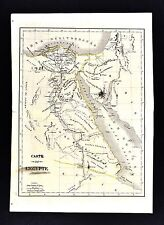 1830 Langlois Atlas Map - Egypt Cairo Alexandria Gizeh Great Pyramids Nile Delta