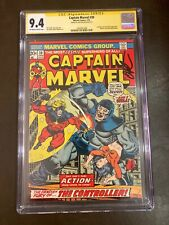 Captain Marvel #30 ss CGC 9.4 signed Jim Starlin story art Thanos & Death app.