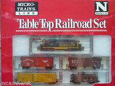 Santa Fe Atlas GP-7 #2863 N Scale Micro-Trains Table Top Set NIB