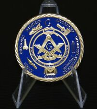 FREE MASON BLUE AND GOLD COIN 40 mm 1 OZ