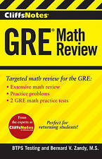 CliffsNotes GRE Math Review by BTPS Testing (Paperback, 2013)