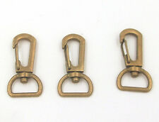 10X Copper Loster Snap Claw Swivel Trigger Clasp Clip KeyRing Hook Diy 38X15MM
