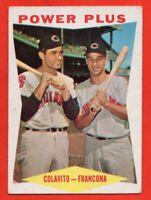 1960 Topps #260 Rocky Colavito VG-VGEX Tito Francona Cleveland Indians FREE S/H