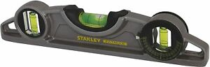 STANLEY FATMAX Pro Torpedo Magnetic Spirit Level Home DIY Pipe Robust Tool 250mm