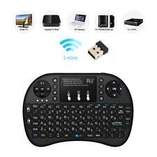 Rii Mini i8+ Hebrew Language 2.4GHz Mini Wireless Keyboard With Touch Pad