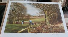 """Large Terry Harrison """" THE LONG DRIVE """" Open Edition Print signed - New"""