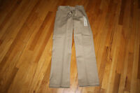 DICKIES 874 WORK PANTS SIZE 28 X 32 KHAKI DURABLE EASY CARE STAIN RELEASE NWT