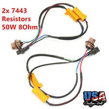 2x 7443 50W Load Resistor Adapter Anti Hyper Blinking Flashing Brake Tail Lights