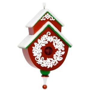 Hallmark Beautiful Birdhouse 2017 Keepsake #2 in Series Red White Ornament NIB