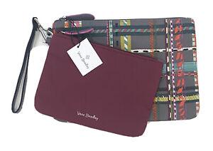 NWT Vera Bradley Midtown Pouch Duo Hawthorn Rose Set 2 Wristlets Swimsuit Bag