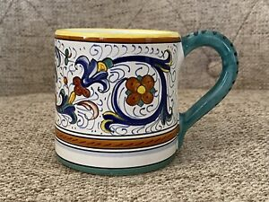 Cottura Cama Deruta Italy Hand Painted Coffee Mug