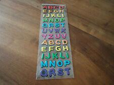 STICKERS ALPHABET - MAJUSCULES - MULTICOLORE - 50 stickers