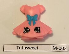 #10 Shopkins McDonalds Happy Meal Tutusweet M-002 With M-036 Kitty Flats
