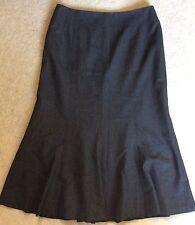 Ann Taylor NWOT Women's Grey Lined Midi Skirt - US8/UK12