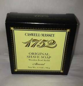 Caswell Massey almond shave soap with wood bowl