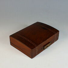 Antique French Inlaid Wood Watch Box or Holder Porte Montre