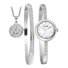 Reloj de pulsera límite elegante señoras a juego de conjunto de piedra, Bola Colgante