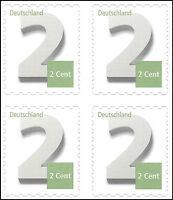 Ergänzungsmarke 2 Cent - skl. aus Markenset - Mi.Nr. 3045 - VARIANTEN