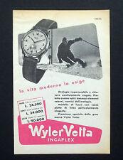 C689 - Advertising Pubblicità- 1953 - WYLER VETTA OROLOGI INCAFLEX
